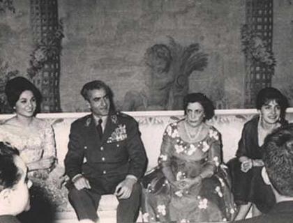 محمد رضا شاه پهلوی و فرح